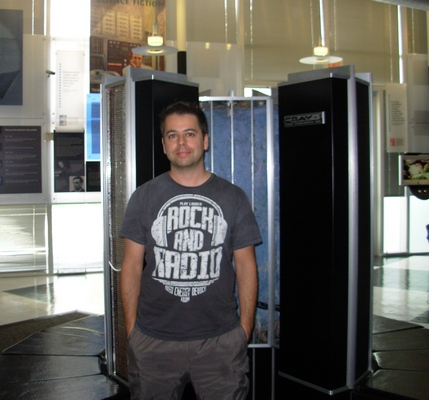 Me at the Computer History Museum, in Mountain View/CA (That's a Cray-2)